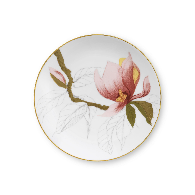 Royal Copenhagen Flora tallerken, Ø19 cm, magnolia