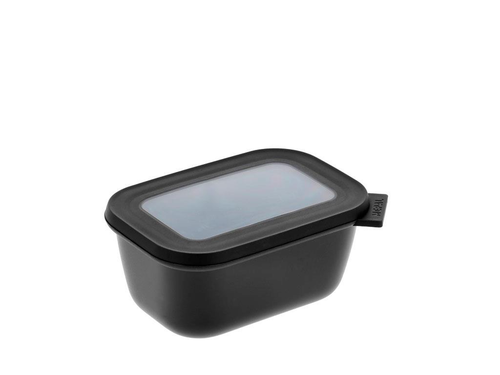 Mepal Cirqula rektangulær skål, 750 ml, sort
