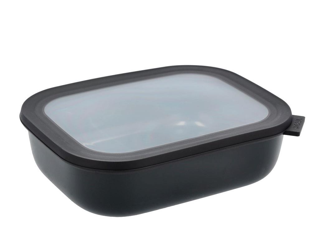 Mepal Cirqula rektangulær skål, 2000 ml, sort