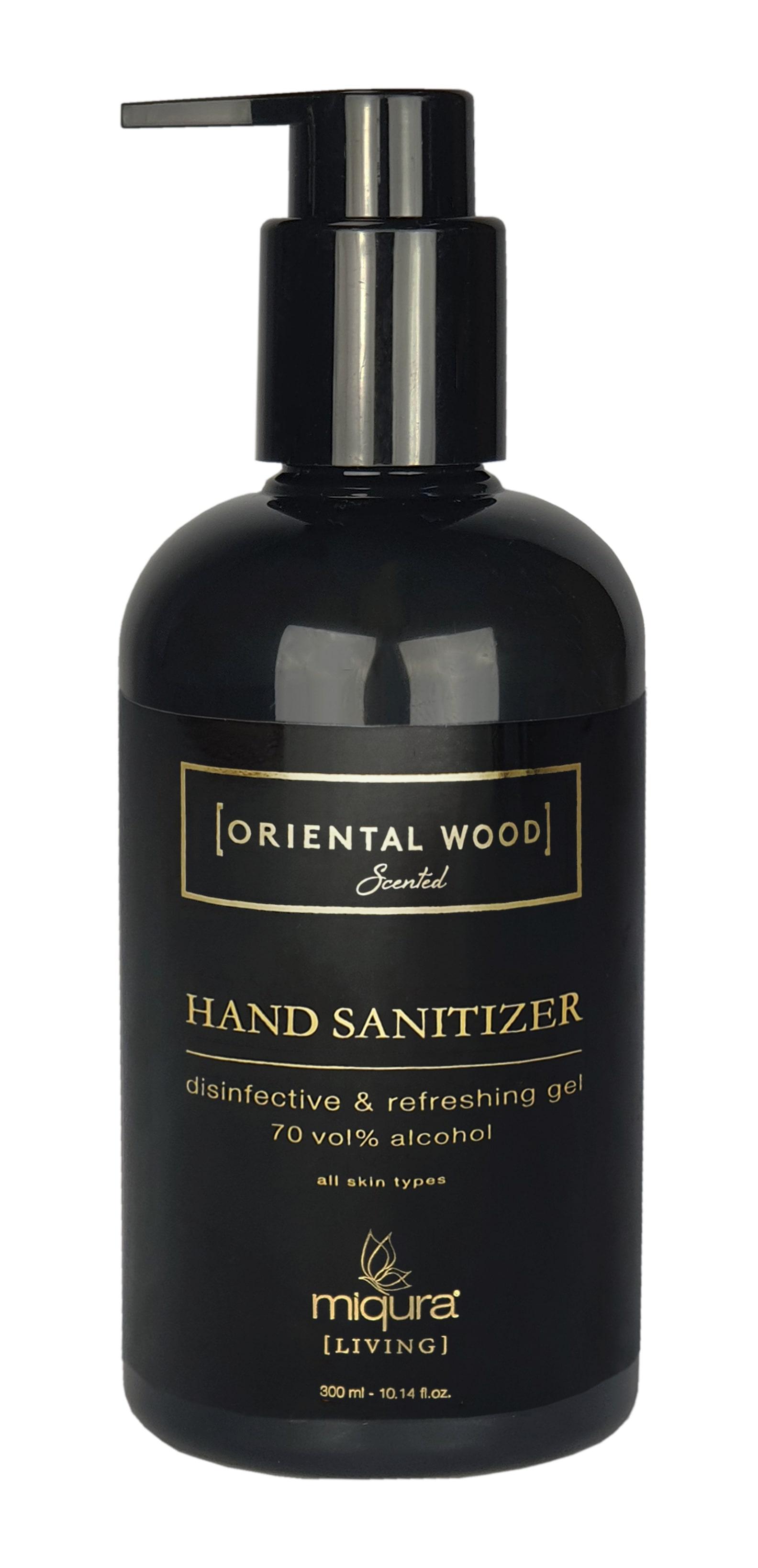 Miqura Living Oriental Wood Hand Sanitizer, 300 ml