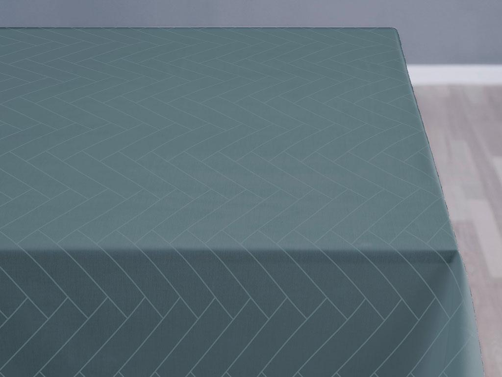 Södahl Tiles damaskdug, 140x320 cm, atlantic