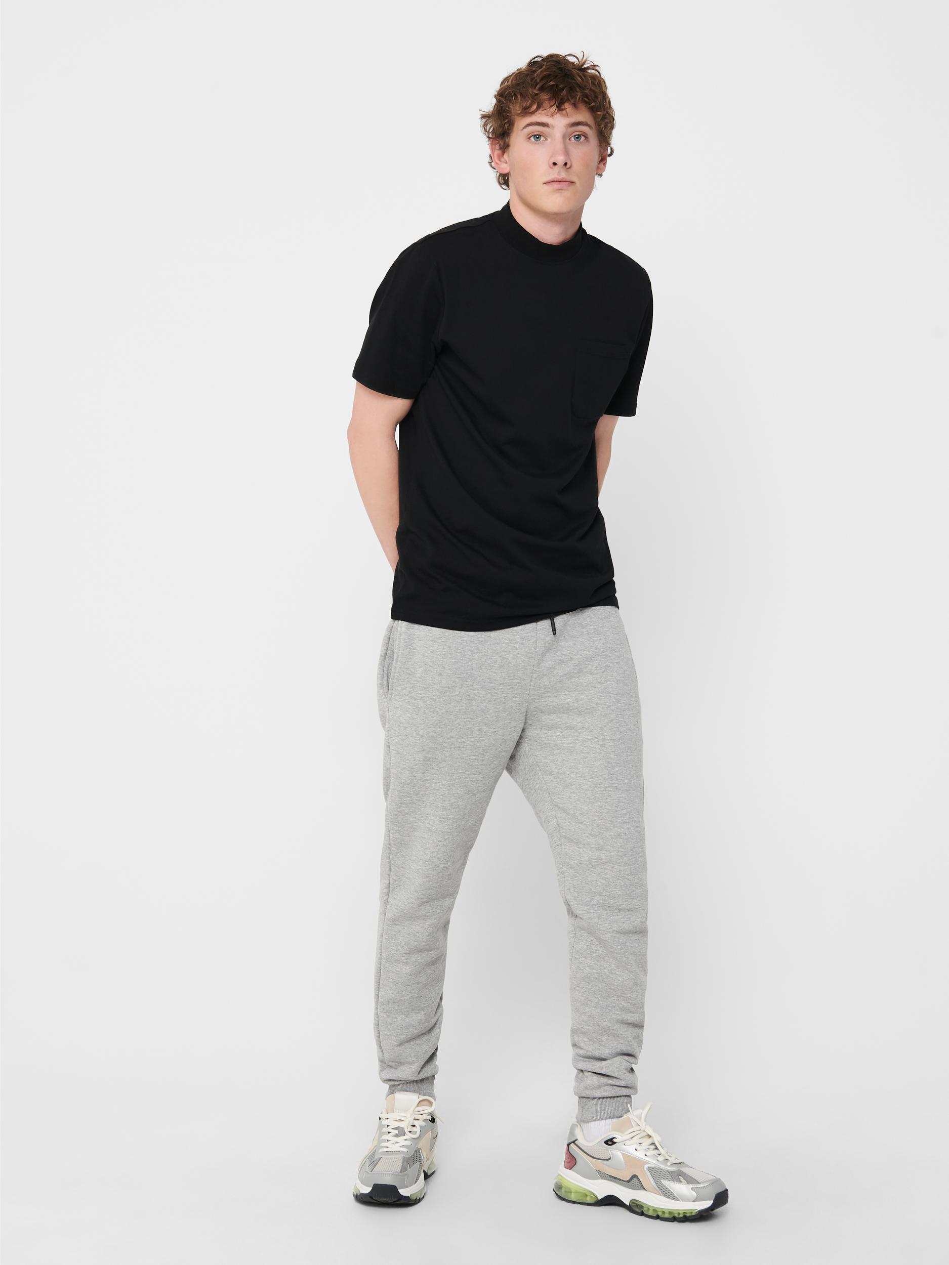 Only & Sons Ceres Life sweatpants, light grey melange, large